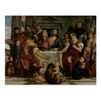 Carte Postale Dîner chez Emmaus (huile sur la toile)