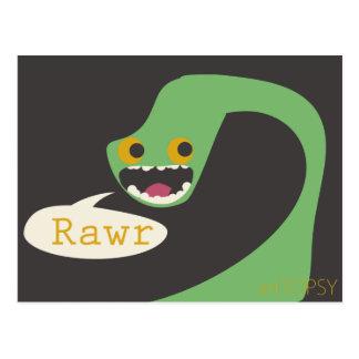 Carte Postale Dinosaure de Rawr