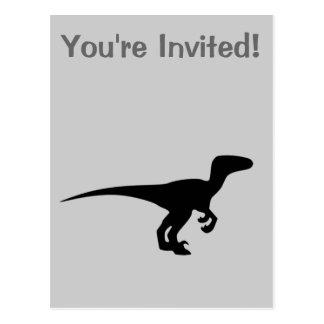 Carte Postale Dinosaure Raptor, conception de Dino