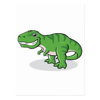 Carte Postale Dinosaure vert de Rex de Tyrannosaurus (T-Rex)
