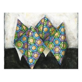 Carte Postale Diseur de bonne aventure d'origami sur le papier