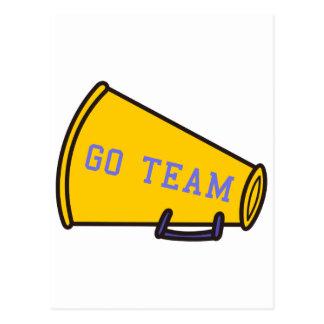 Carte Postale Disparaissent le mégaphone d'équipe