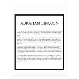 Carte Postale Disposition alternative honnête d'Abe