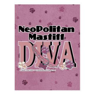 Carte Postale DIVA de mastiff de Neopolitan