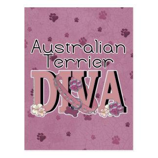 Carte Postale DIVA de Terrier australien
