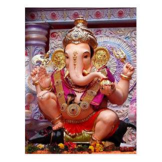 Carte Postale Divinité indoue d'éléphant asiatique de Ganesh