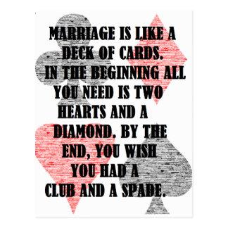 Carte Postale Divorce : Humour
