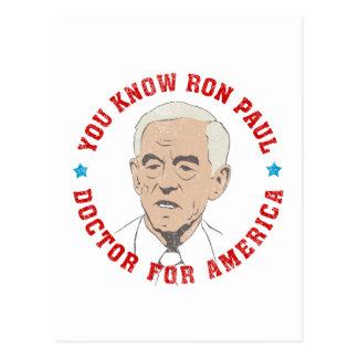 Carte Postale Docteur de Ron Paul pour l'Amérique