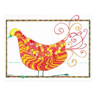 Carte postale d'oiseau d'opéra de Sophie