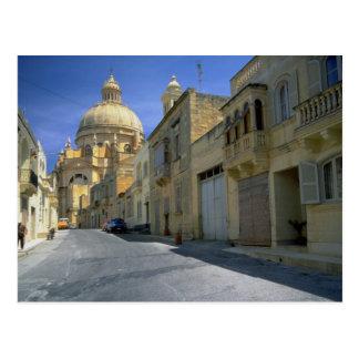 Carte Postale Dôme de Xewkija (le rotunda), Xewkija, Gozo, Malte