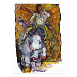 Carte Postale Don don Quichotte