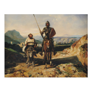 Carte Postale Don don Quichotte et Sancho