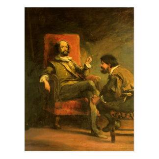 Carte Postale Don don Quichotte et Sancho Panza