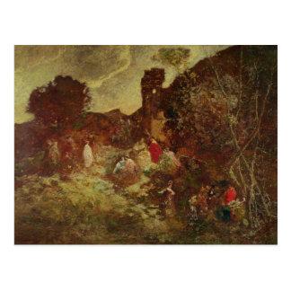 Carte Postale Don don Quichotte et Sancho Panza, c.1865