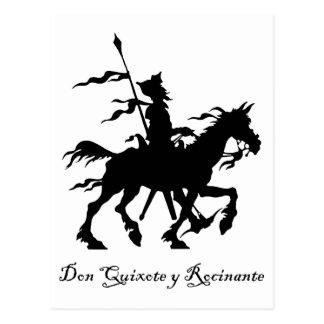 Carte Postale Don don Quichotte y Rocinante