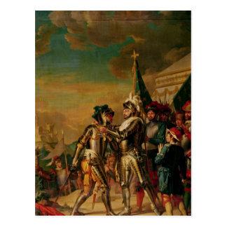 Carte Postale Donner la chaîne de l'ordre du Saint-Michel