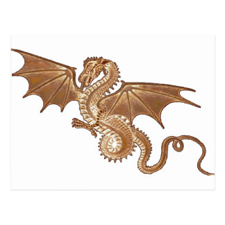 carte postale d'or de dragon