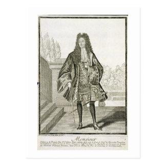 """Carte Postale d'Orleans de """"Monsieur"""" autrement Philip Duc de"""