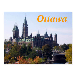 Carte postale d'Ottawa Canada
