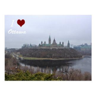 Carte postale d'Ottawa du luv I de colline du
