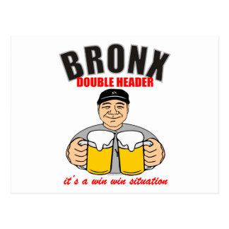 CARTE POSTALE DOUBLE EN-TÊTE DE BRONX