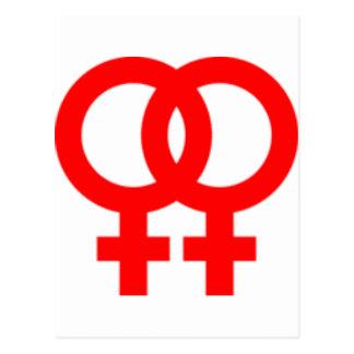 Carte Postale Doubles symboles de femmes