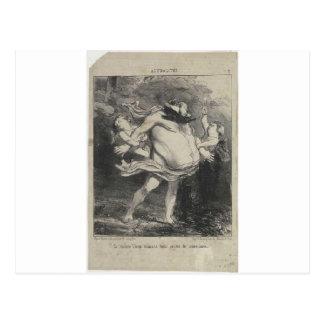 Carte Postale Dr. Veron par Honore Daumier
