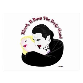 Carte Postale Dracula, sang il fait le corps bon
