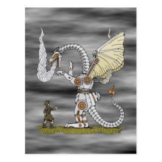 Carte Postale Dragon mécanique