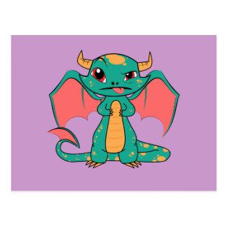 Carte Postale Dragon mythique avec des ailes