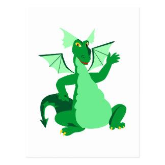Carte Postale Dragon vert de ondulation
