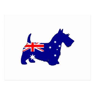Carte Postale Drapeau australien - écossais Terrier
