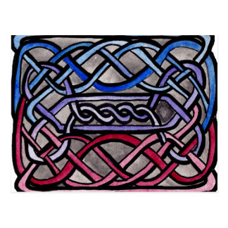 Carte Postale Drapeau bisexuel de Knotwork de Celtic