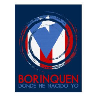 Carte Postale Drapeau Borinquen de Porto Rico