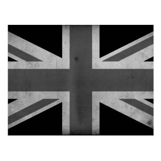 Carte Postale Drapeau BW de la Grande-Bretagne
