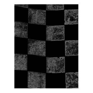 Carte Postale Drapeau Checkered noir et gris