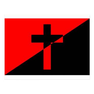 Carte Postale Drapeau chrétien de christianisme d'anarchie