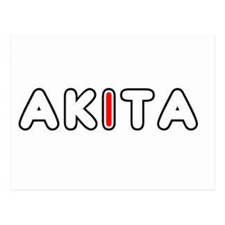 Carte Postale drapeau d'akita dans le nom