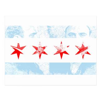 Carte Postale Drapeau d'Al Capone Chicago