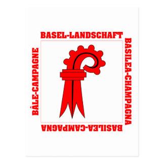 Carte Postale Drapeau de Bâle Landschaft Suisse