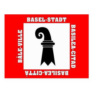 Carte Postale Drapeau de Bâle Stadt Suisse