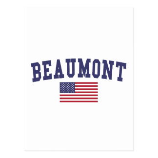 Carte Postale Drapeau de Beaumont USA