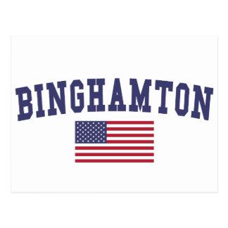 Carte Postale Drapeau de Binghamton USA