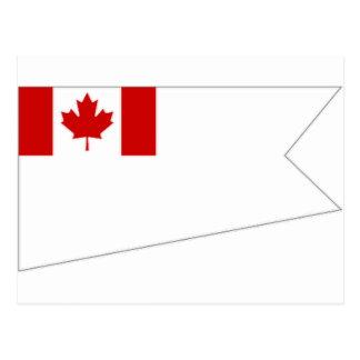 Carte Postale Drapeau de brigadier général d'ampère de commodore