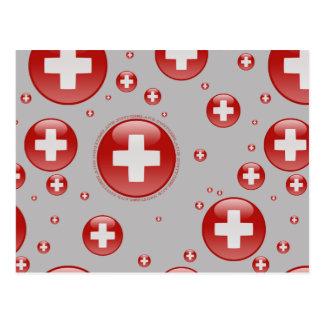 Carte Postale Drapeau de bulle de la Suisse