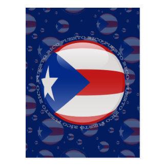 Carte Postale Drapeau de bulle de Porto Rico