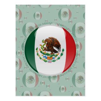 Carte Postale Drapeau de bulle du Mexique