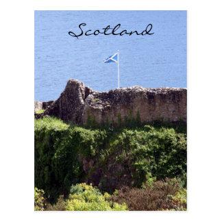 Carte Postale drapeau de château d'urquhart