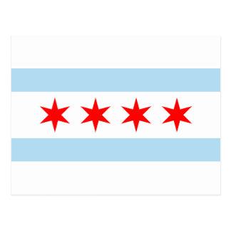 Carte Postale Drapeau de Chicago