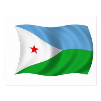 Carte Postale Drapeau de Djibouti